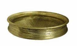 Golden mannarcraft Bronze Cooking Urli, For Serving Food