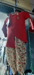 Silk Red Traditional Kids Wear, Size: 1to7