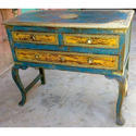 Antique Wooden Table With Drawers