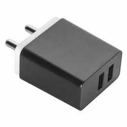 Black Foxin Dual USB Charging Adapter