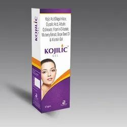 Kojic Acid, Glycolic Acid, Arbutin, Octinoxate Mulberry Extract Vitamin E Grape Seed Oil & Allantoin