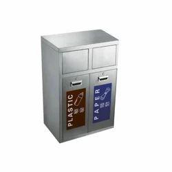 S/Steel 2 In 1 Push Bin EFR-501
