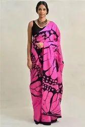 Bagru Hand Batik Cotton Mulmul Saree