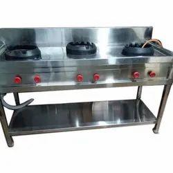 Goodwill Stainless Steel Commercial Chinese Range 3 Burner
