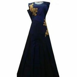Blue Ladies Silk Dress