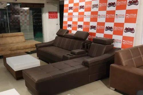 Modular Chocolate Brown Sofa Set