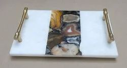 Agate with Marble Tray
