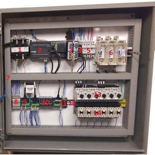 Three Phase Mild Steel Electric PLC Control Panel