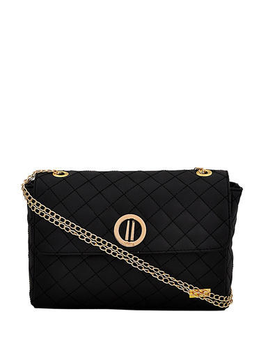 d6777a01f2de3e Yelloe Black Color Sling Bag With quilt pattern and Brand Lo at Rs ...