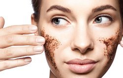 Coffee Natural Face Scrub, Pack Size: 200gm , For Parlour