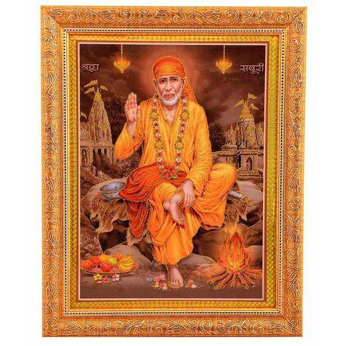 Rectangular Sai Baba Photo Frame Size 26 X 32 Inch Rs 800 Piece