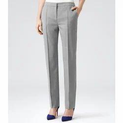 Cotton Plain Ladies Office Pant
