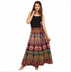 Indian Mandala Wrap Around Skirt