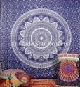 Indian Silver Ombre Mandala King Tapestry
