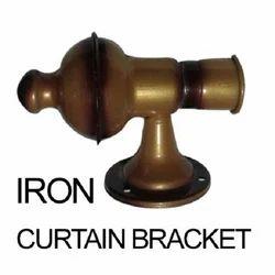 Iron Single side Brackets Curtain Rod Bracket, Size/Dimension: 25 Mm