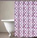 71 x 71 Inch Geometric Magenta Shower Curtain