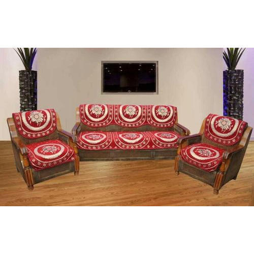 Cotton Printed Red Sofa Cover, Rs 270 /set, Luthra Enterprises | ID ...
