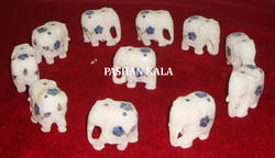 Inlay Marble Elephants