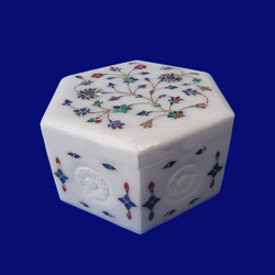 Decorative Small Inlay Marble Boxes