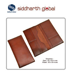Brown Premium Leather Wallet with Passport Holder, Pure Leather: Yes
