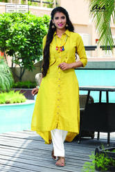 SHIRT TYPE COTTON KURTI
