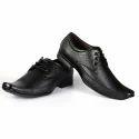 Men Black Rexine Formal Shoes
