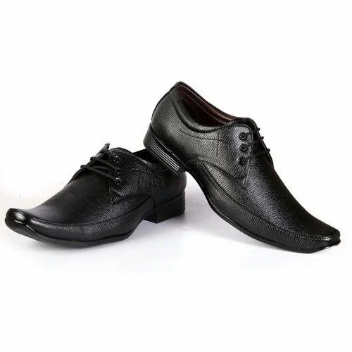 Men Black Rexine Formal Shoes, Rs 300