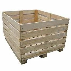 Non-Edible Hard Wood 1000 Kg Wooden Packaging Box, 16-25 mm