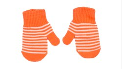 Designer Orange Winter Gloves