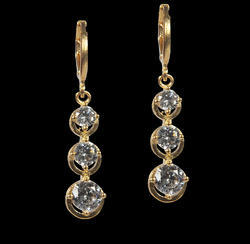Delightful Dangles Brass Drop Earring