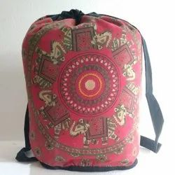 Little India Casual Wear Mirror Work Red Shoulder Bag