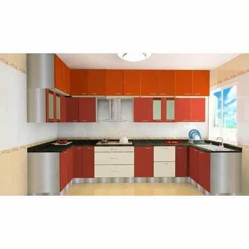 Laminated Modular Kitchen At Rs 1400 Square Feet: Modular Wooden Kitchen, Lakdi Ka Modular Rasoi Ghar