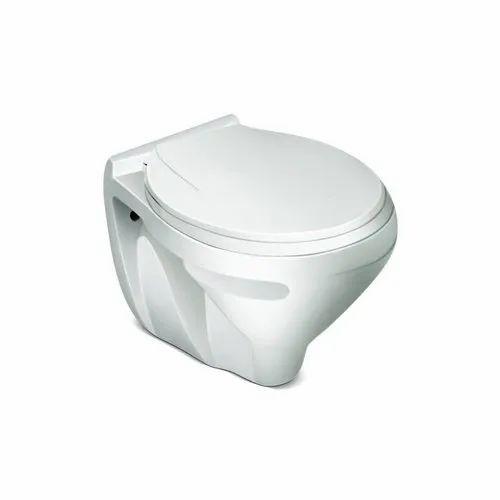 White Ceramic Western Toilet Seat