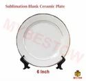 Plain Golden Ring Ceramic Plates