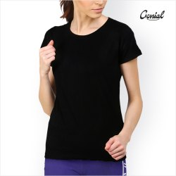 Genial Cotton Half Sleeve T-Shirt For Women
