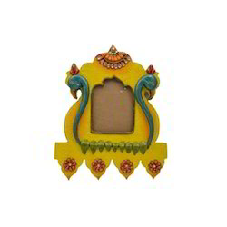 Wooden Paper Mache Duck Face Wooden Frame with Kundan Work
