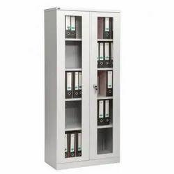 Fonzel 4 Shelves Glass Swing Door Cupboard