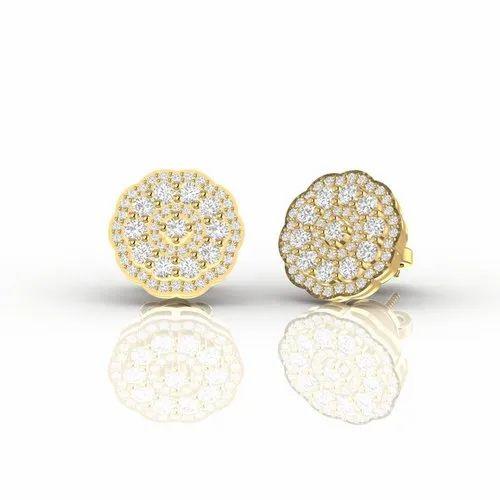 Statement Diamond Ear Studs For Women