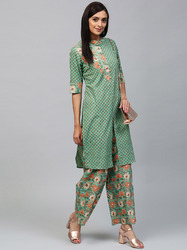 Straight Kurta With Palazzo Set