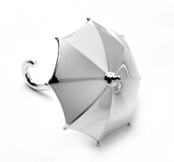 Melange Silver Plated Paperweight in Umbrella Shape