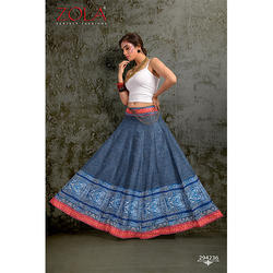 Ladies Digital Printed Long Skirts