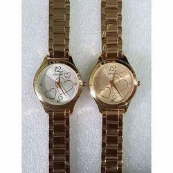 Ladies Gold Tone Chain Wrist Watch