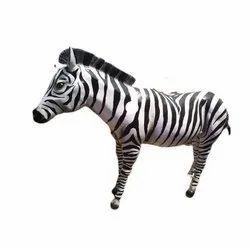 Fiber Zebra Statue
