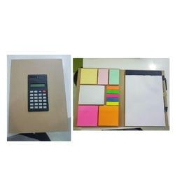 Brown & Black Diary With Calculator Pen And Cheats