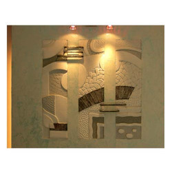 Classic Charcoal White Siporex Mural, For Decoration