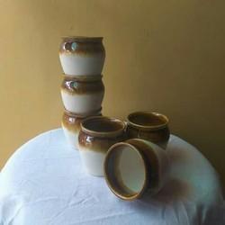 Flue Art Pottery Ceramic Dual Kulhad, Packaging Type: Box