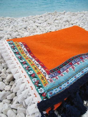 Pareo Beach Terry Towel Fabric - Kikoy Beach Terry Towel