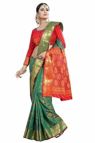 6904c8e559 Silk Ladies Patola Saree With Blouse Piece, Length: 5.5 M, Rs 849 ...