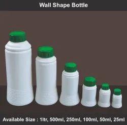 Screw Cap White Wall Shape Bottle, For Packaging, 25 ml