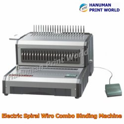Electric Spiral Wiro Combo Binding Machine